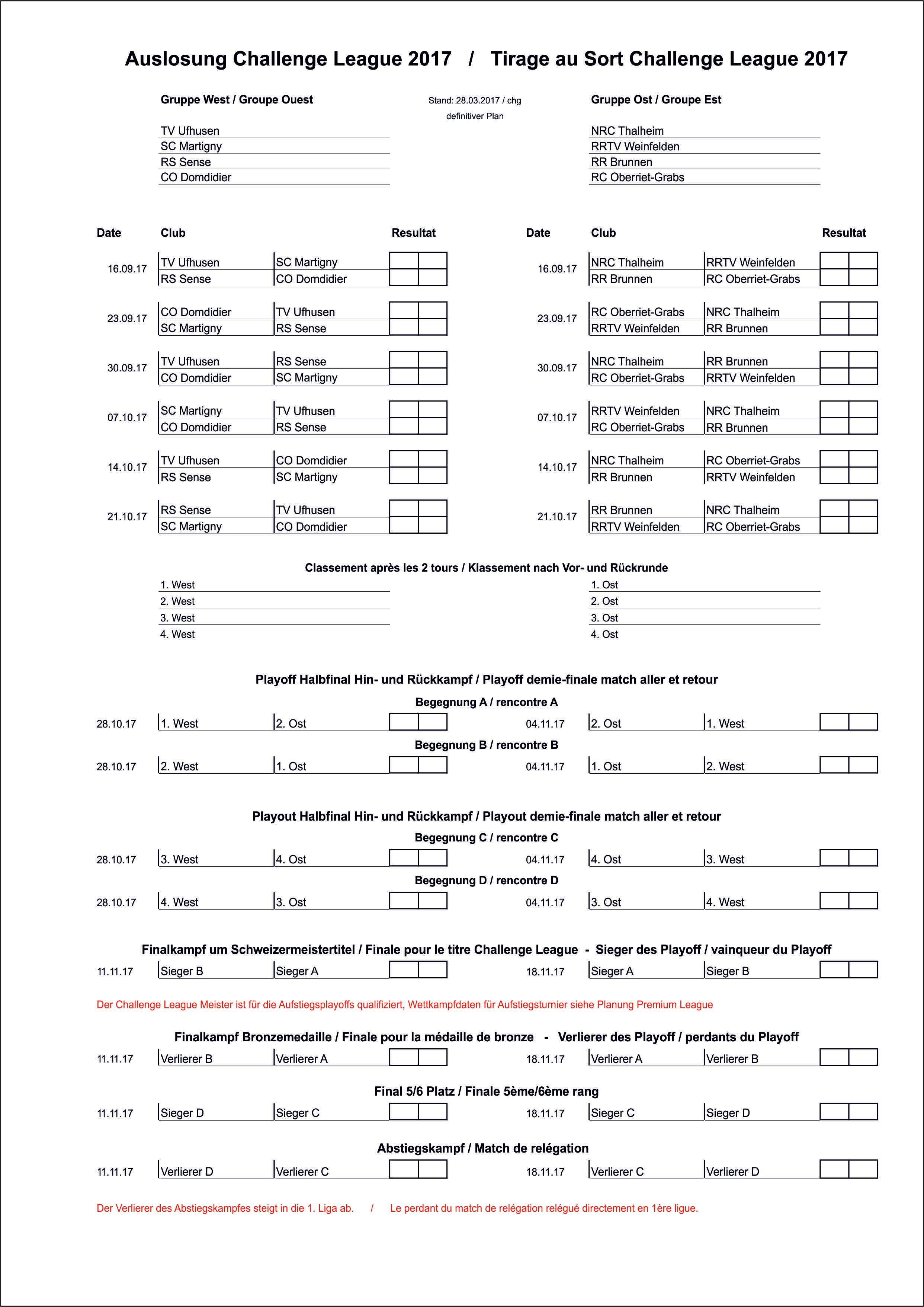 Calendrier - Kalender WINFORCE Challenge League 2017_definitiv